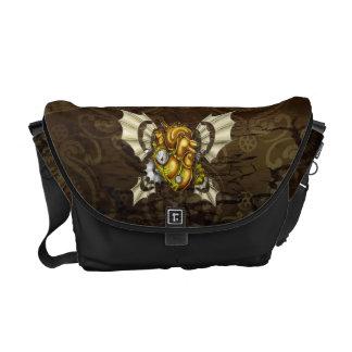 A Heart to Take Flight Rickshaw Bag -- Yellow Courier Bags