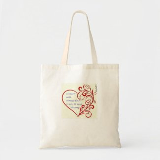 """a heart will always find a way to sing its song"" tote bag"