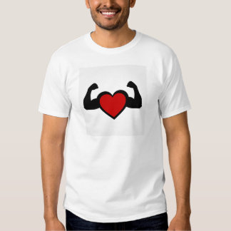 A heart with flexing muscles- Healthy heart Tee Shirt
