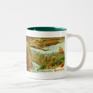 A Hearty Thanksgiving; Indian Corn and Haystacks Mug