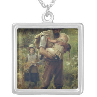 A Heavy Burden Silver Plated Necklace
