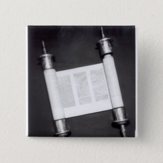 A Hebrew Scroll Button