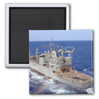 A helicopter clears the flight deck 2 inch square magnet