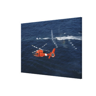 A helicopter crew trains canvas print
