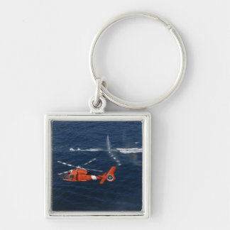 A helicopter crew trains keychain