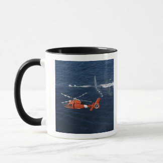 A helicopter crew trains mug