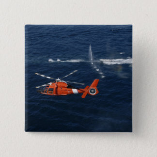 A helicopter crew trains pinback button