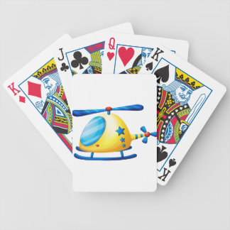 A helicopter toy bicycle playing cards