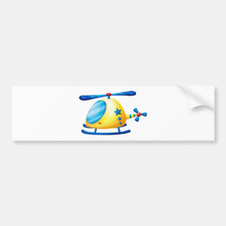 A helicopter toy car bumper sticker