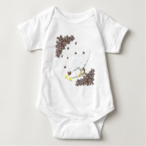 A hen and chicks baby bodysuit