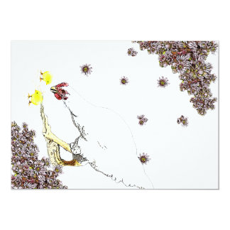 A hen and chicks card