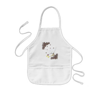 A hen and chicks kids' apron