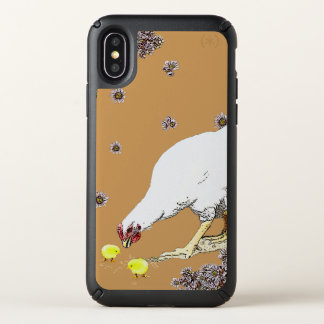 a Hen and Chicks Speck iPhone X Case