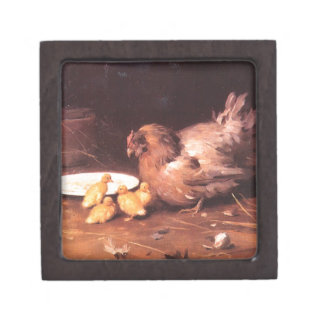 A Hen by Mykola Pymonenko Jewelry Box