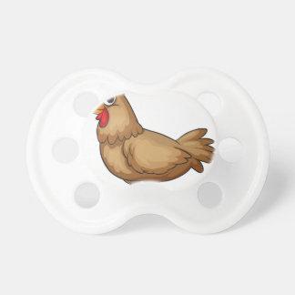 A hen BooginHead pacifier