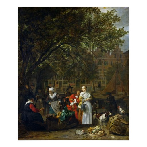 A Herb Market in Amsterdam Poster