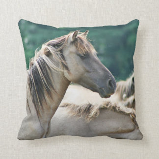 A herd of Brumby Horses from Australia Throw Pillow