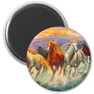 A herd of horses magnet