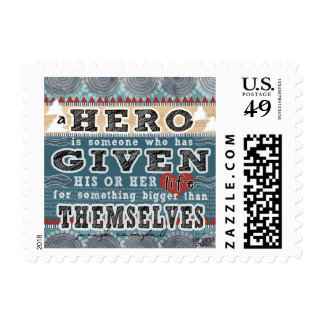 A Hero Is - Quote by Joseph Campbell Postage
