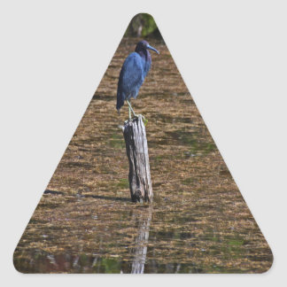 A Heron in the Slough Triangle Sticker