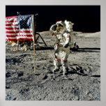 A Hero's Salute From Apollo 17 Print