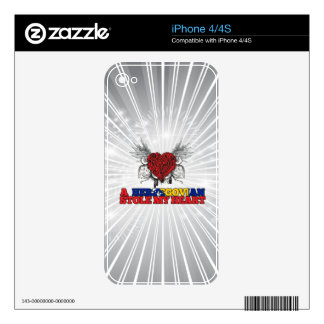 A Herzegovian Stole my Heart Decal For The iPhone 4