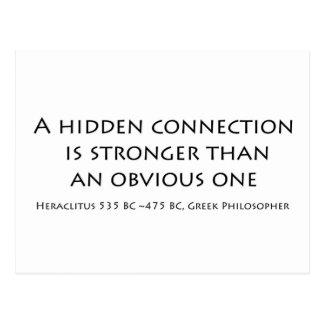 A hidden connection postcard