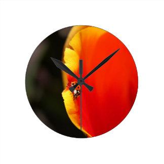 A Hidden Friend Round Clock