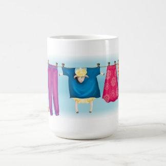 a hiding away sheep on laundry line mug