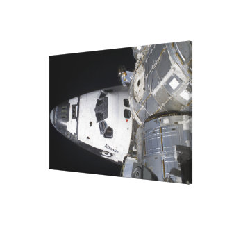 A high-angle view of the crew cabin canvas print
