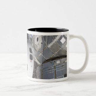 A high-angle view of the crew cabin Two-Tone coffee mug