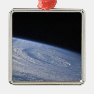 A high-oblique view metal ornament