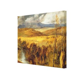 A Highland Landscape, c.1825-35 (oil on board) Canvas Print