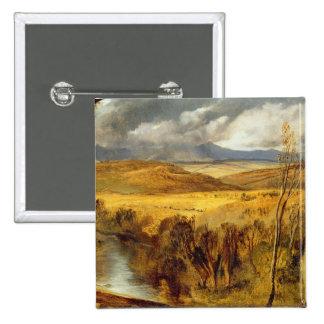A Highland Landscape, c.1825-35 (oil on board) Pinback Button
