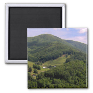 A highland pasture / Maggie Valley, North Carolina 2 Inch Square Magnet