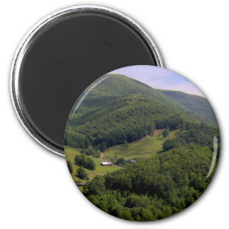 A highland pasture / Maggie Valley, North Carolina Magnet