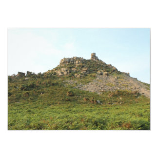 A Hill with Rocks. Card