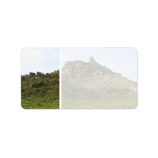 A Hill with Rocks. Label