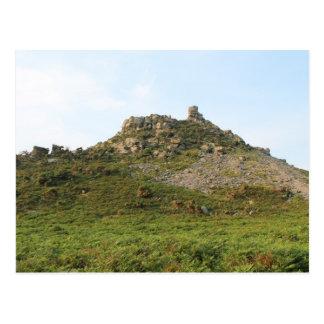 A Hill with Rocks. Postcard