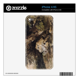 A Hilly Landscape with Figures Approaching a Bridg Decal For The iPhone 4