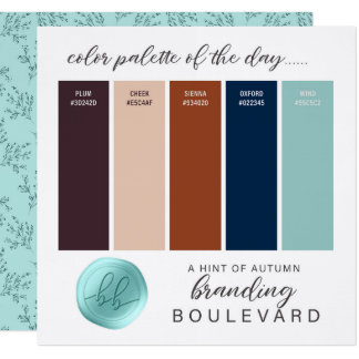 A Hint of Autumn Fall Color Palette Card