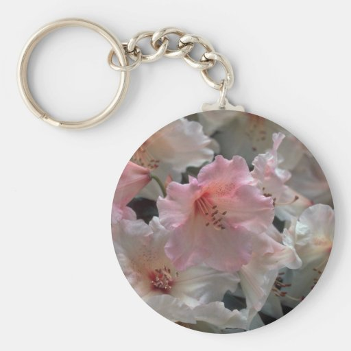 A Hint Of Pink In White Key Chains