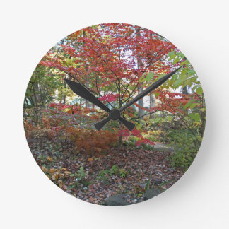 A Hint of Red Velvet Round Clock