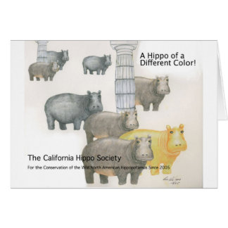 A Hippo of a Differnt Color! Card