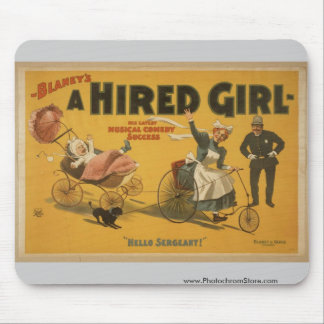 A Hired Girl, 'Hello Sergeant' Vintage Theater Mouse Pad