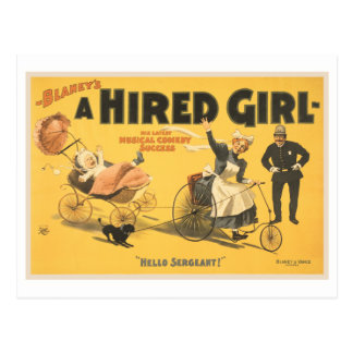 A hired girl musical comedy success post cards