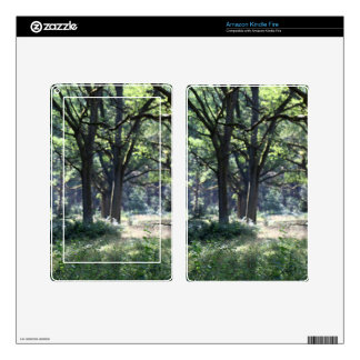 A historical wood pasture with oak trees. kindle fire skin