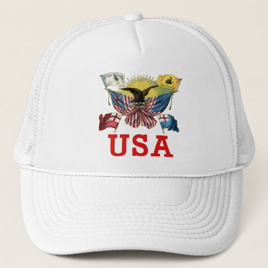 A History of American Flags on a Tshirt Trucker Hat