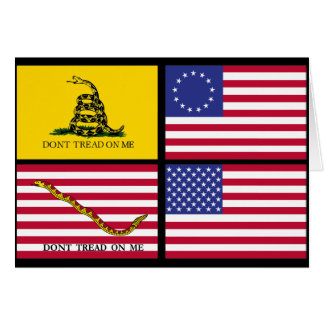 A History Of United States Flags Card