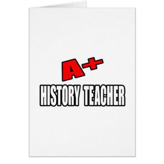 A+ History Teacher Card